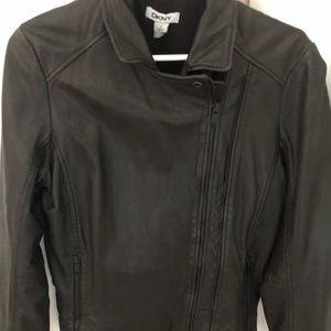 Donna Karan lamb leather jacket